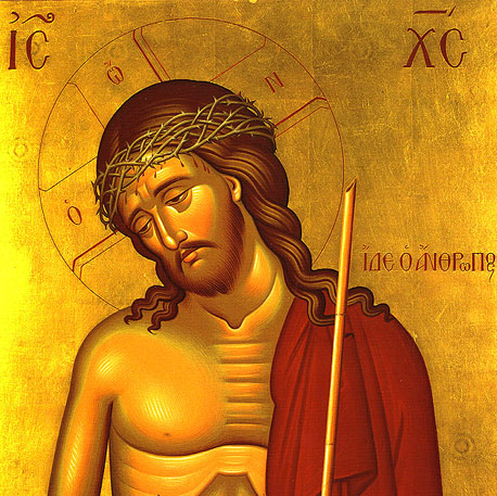 icon of Jesus with crown of thorns